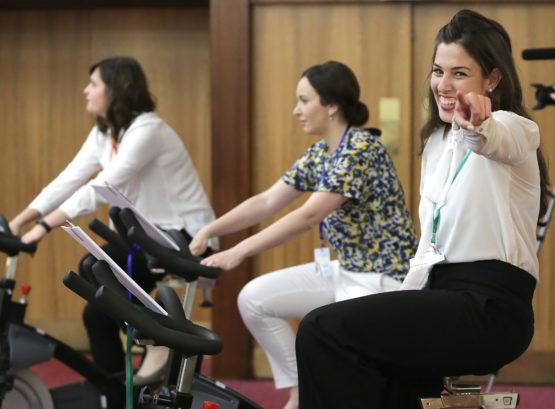 Tijekom trajanja kongresa, sudionici su aktivno biciklirali kako bi ukazali na važnost tjelesne aktivnosti